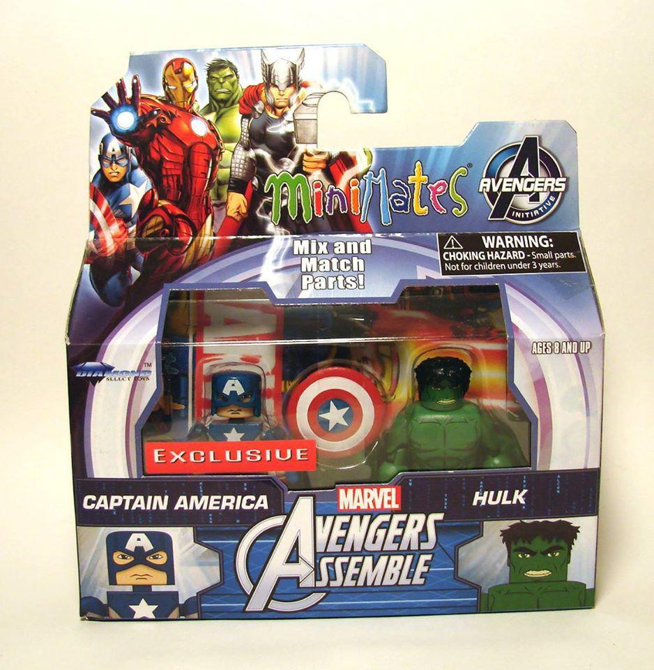 Captain America & Hulk Walgreens Exclusive Marvel Minimates