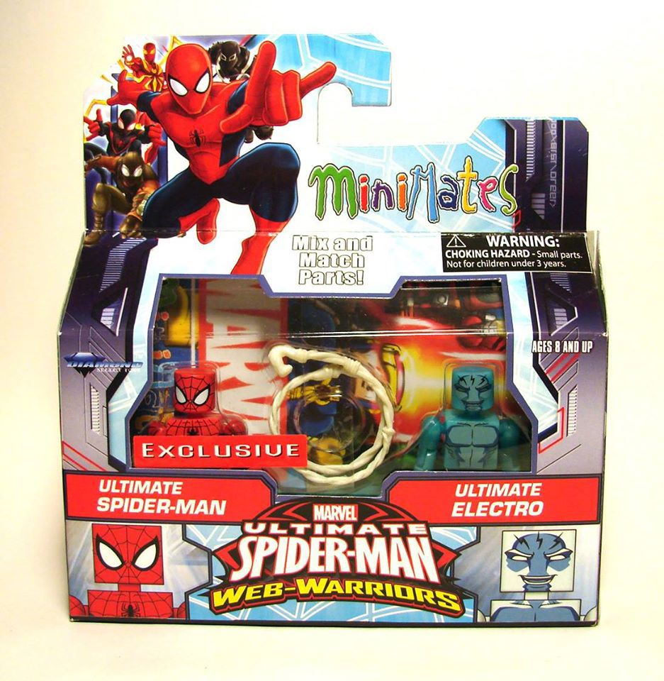 Spider-Man & Glow in the Dark Electro Walgreens Exclusive Marvel Minimates