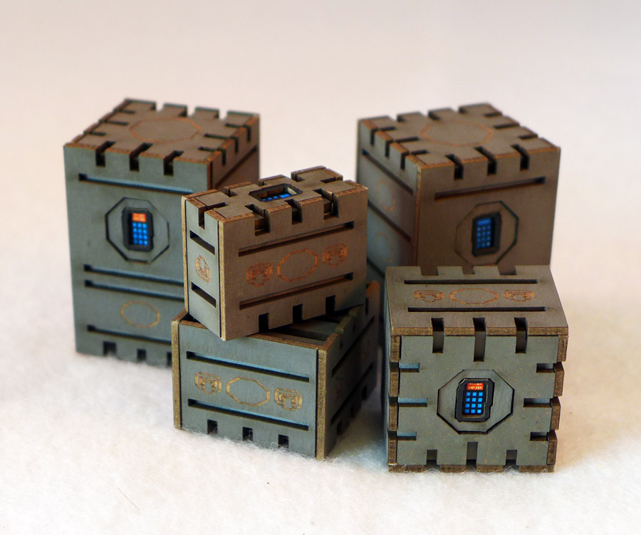 Security Crates Set of 5 (Gray)