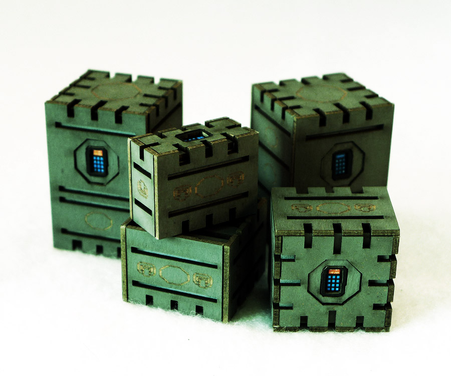 Security Crates Set of 5 (Green)