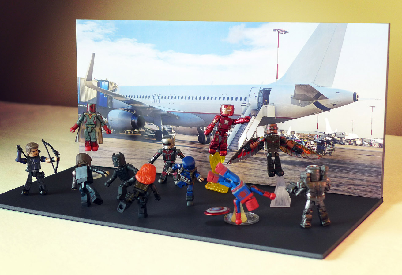 Striking Backdrops: Airport Battle (with optional back stand)
