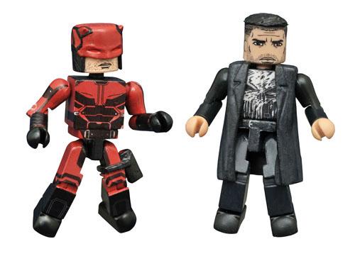 SDCC Exclusive Daredevil & Punisher Netflix Marvel Minimates 2-Pack