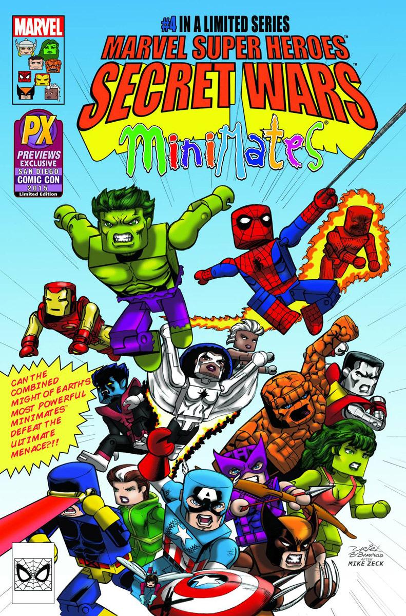 SDCC Exclusive Secret Wars #4 Marvel Minimates Cover Variant Comic