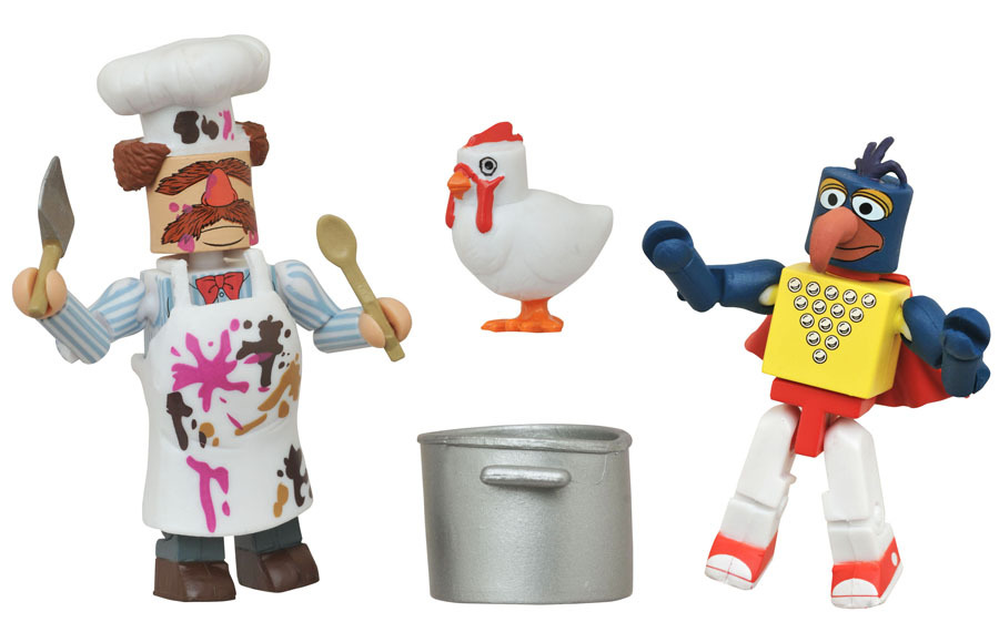 Stunt Show Gonzo & Batter-Damaged Swedish Chef Muppets Minimates Variant