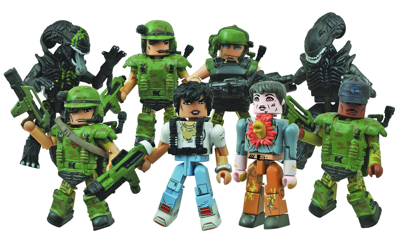 Aliens Minimates Series 1 Full Set of 8