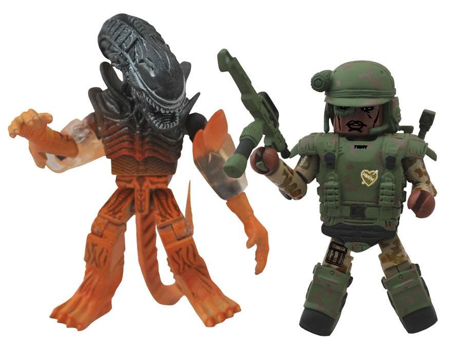 Pvt. Frost & Burning Alien Minimates