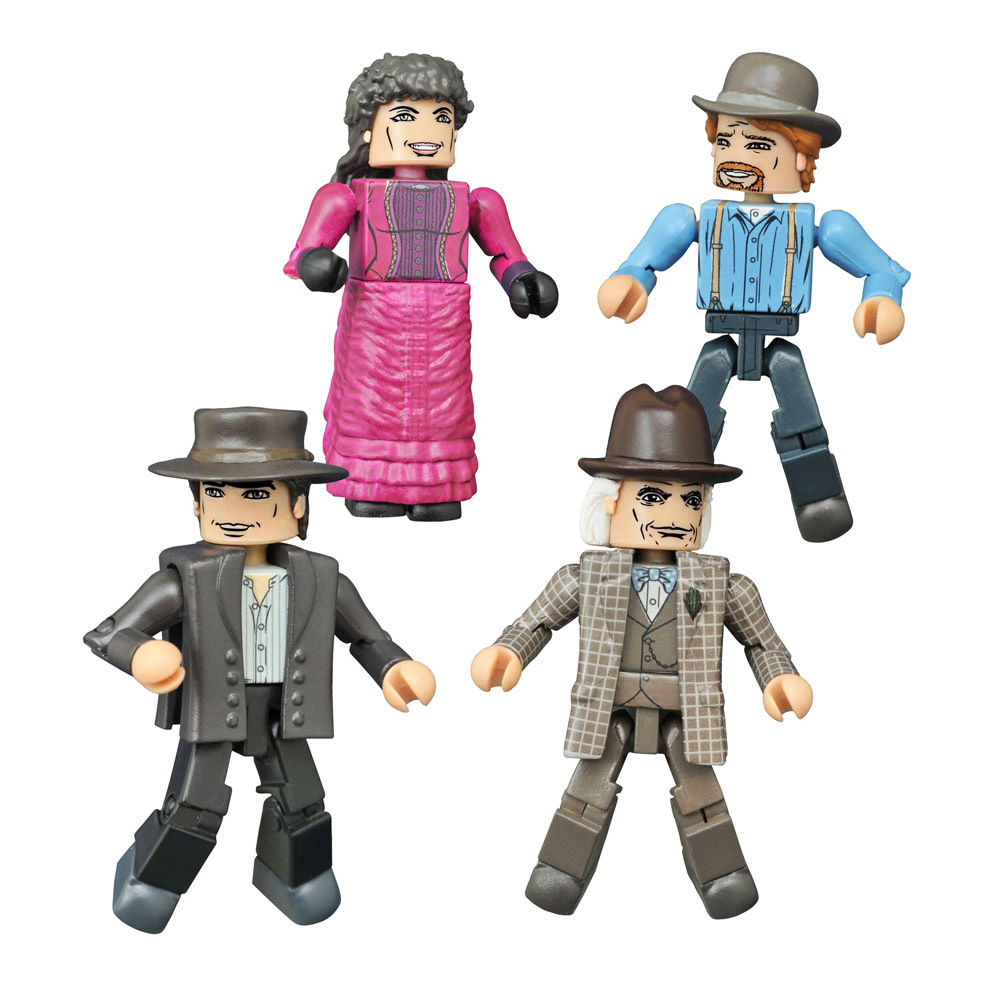 Back to the Future 1885 Hill Valley Minimates Box Set