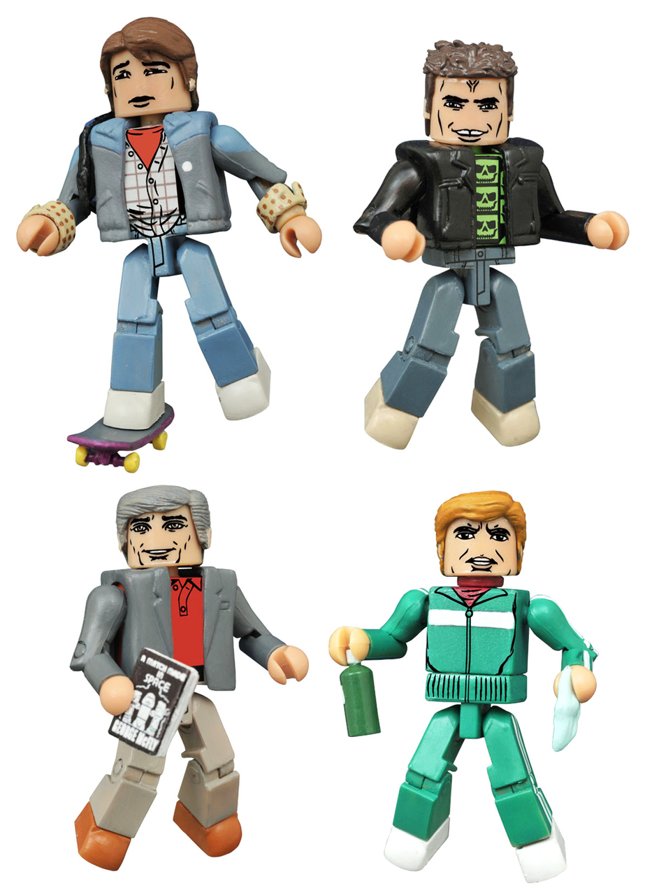 Back to the Future 1985 Hill Valley Minimates Box Set