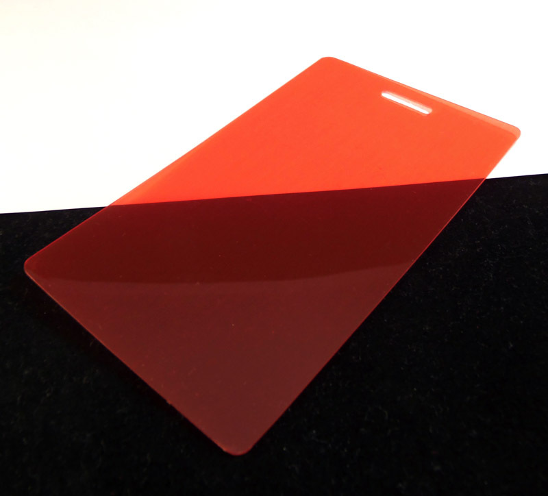 red translucent colored plastic sheet for customizing - Colored Transparent Sheets