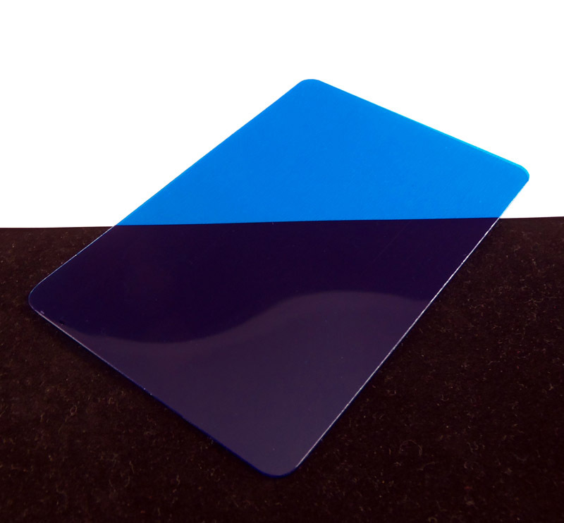 Blue Translucent Colored Plastic Sheet for Customizing