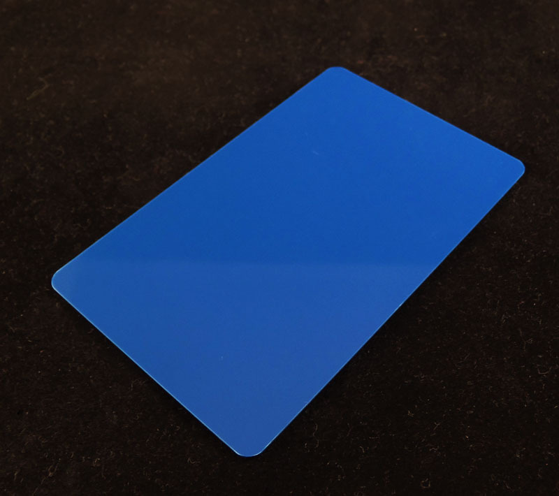 Blue Colored Plastic Sheet for Customizing