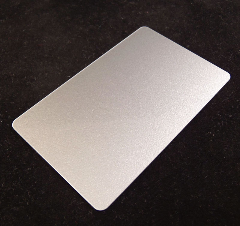 Silver Colored Plastic Sheet for Customizing