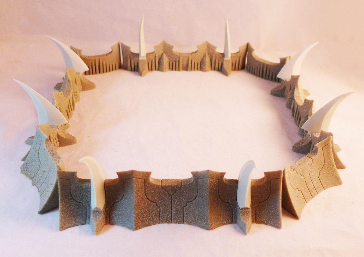 Dark Castle Walls Modular Diorama