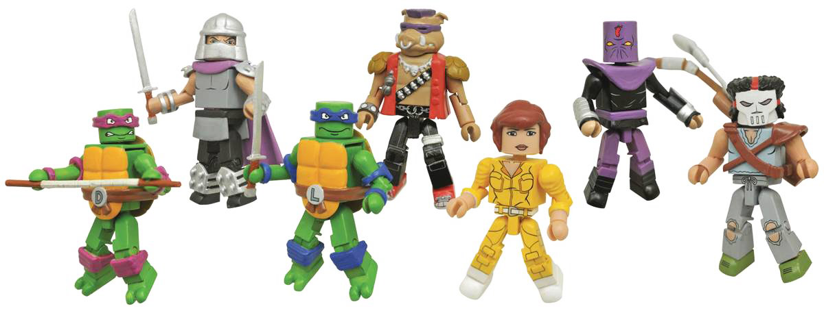 Classic TMNT Minimates Series 1 Full Set of 8