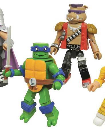 Leonardo VS Bebop TMNT Minimates