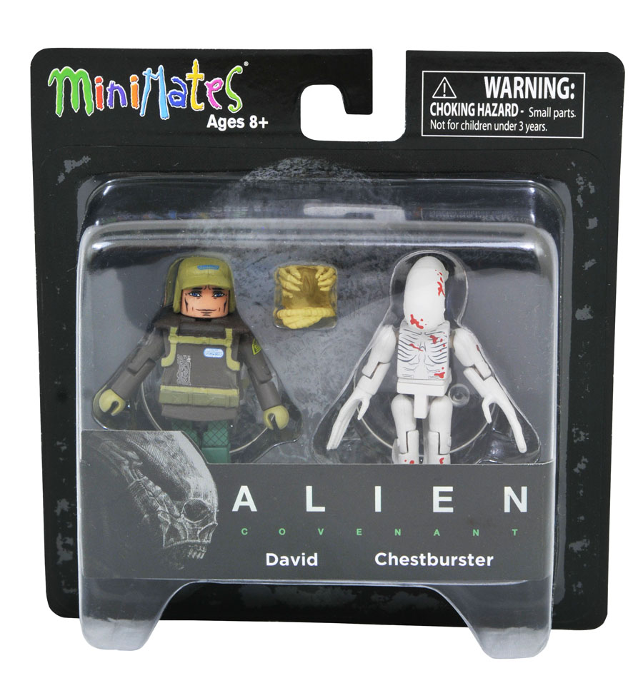 David & Chestburster Alien Covenant Minimates
