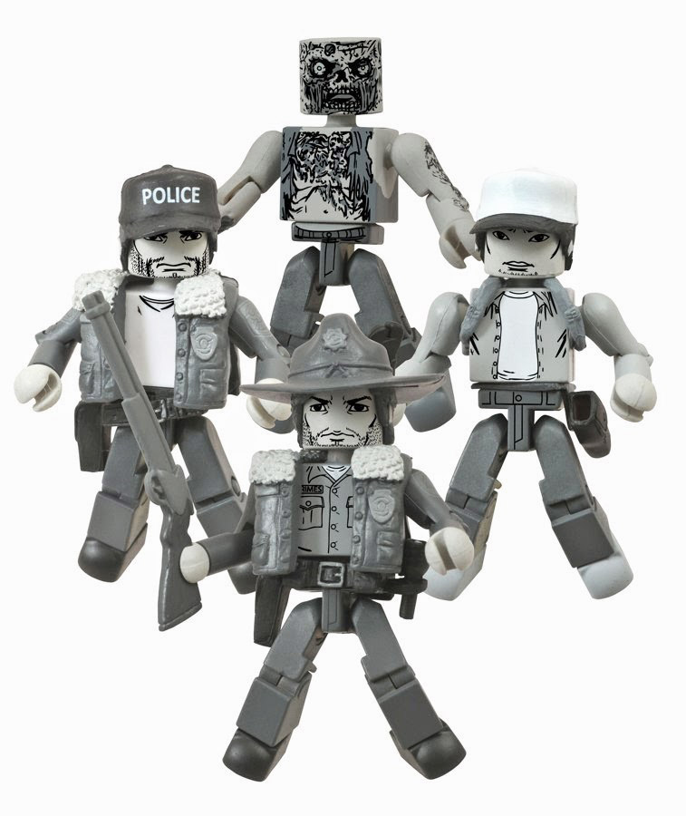 Days Gone By Walking Dead Minimates 4-Pack