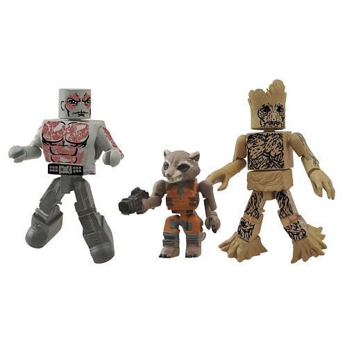 Drax / Groot / Rocket Raccoon Movie Minimates