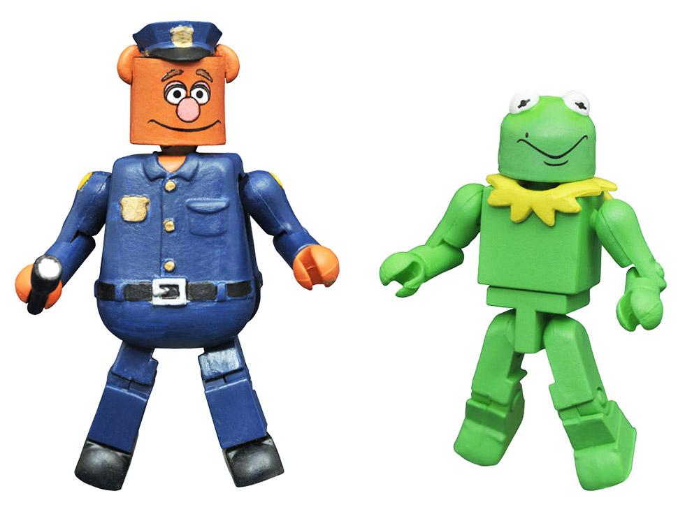 Kermit as Constantine & Patrol Bear Fozzie Muppets Minimates