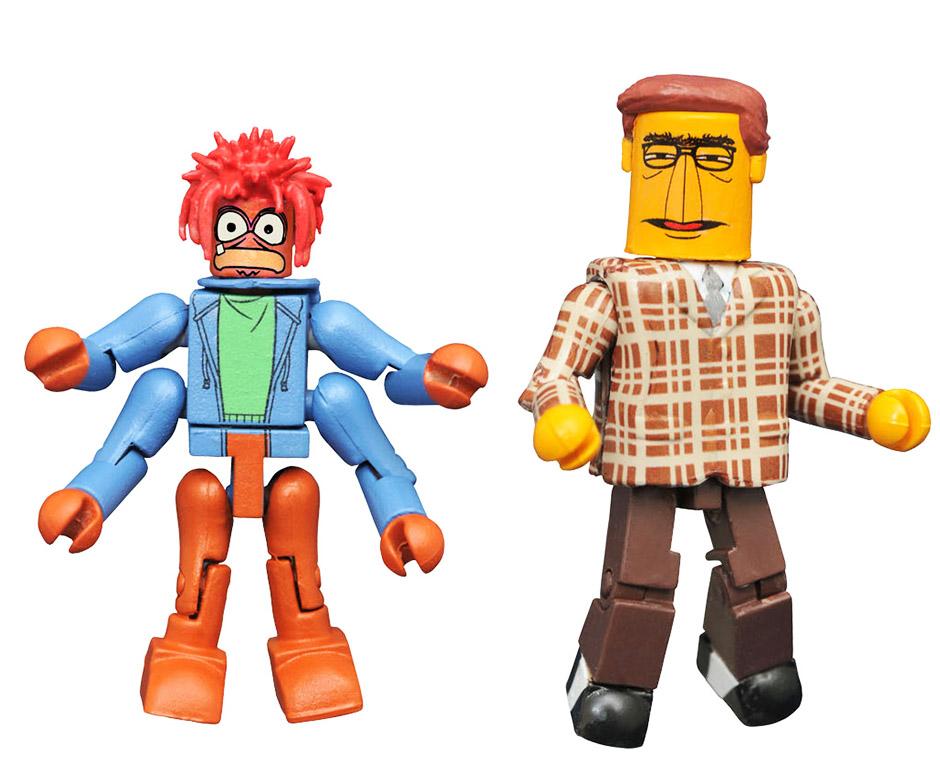 Muppet Newsman & Pepe the King Prawn Muppets Minimates