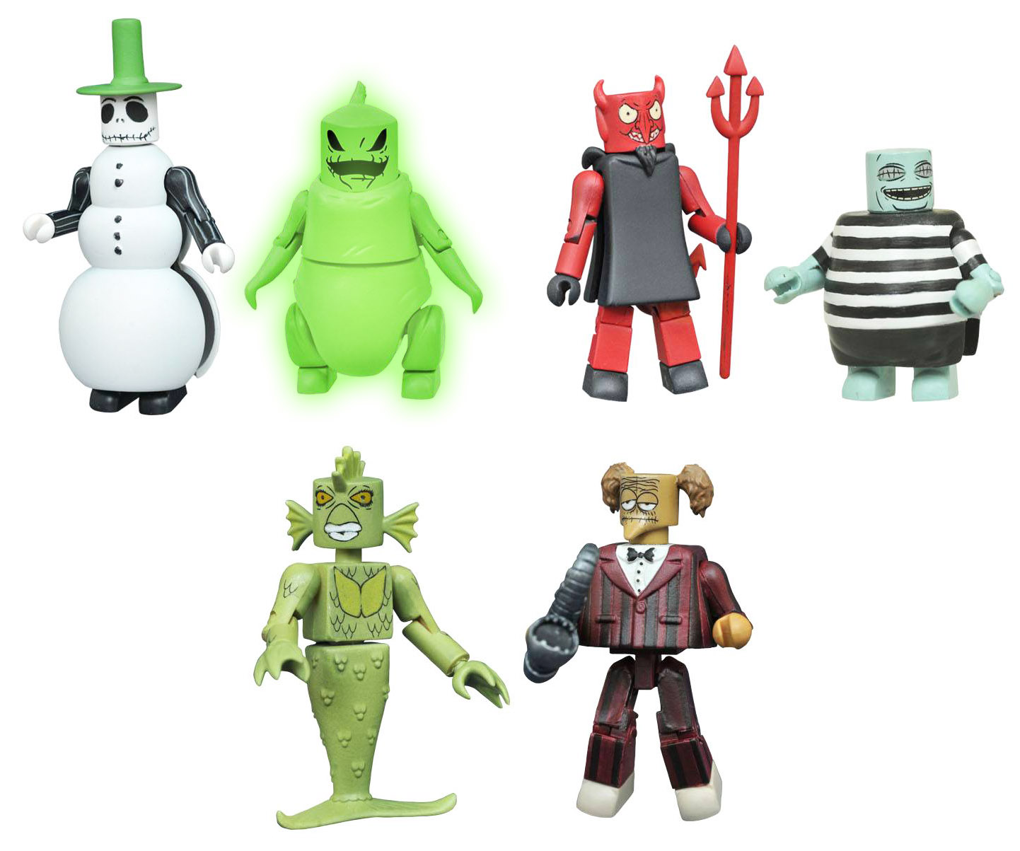 Nightmare Before Christmas Minimates Series 4 Full Set of 6