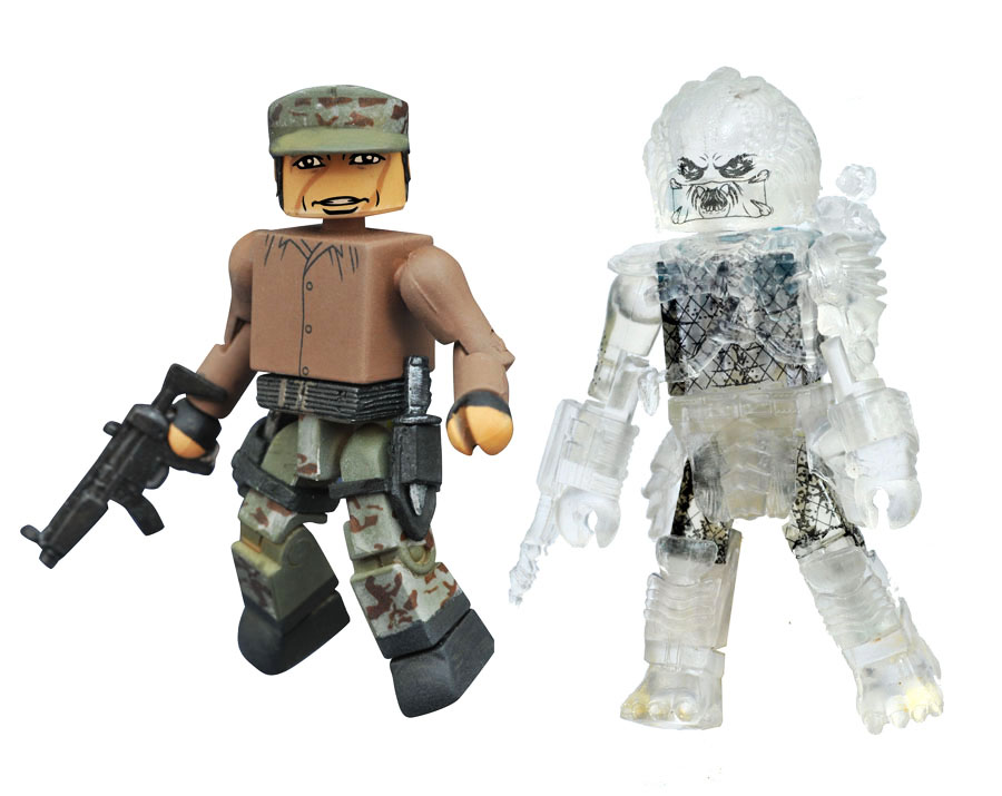 Poncho & Cloaked Unmasked Predator Minimates