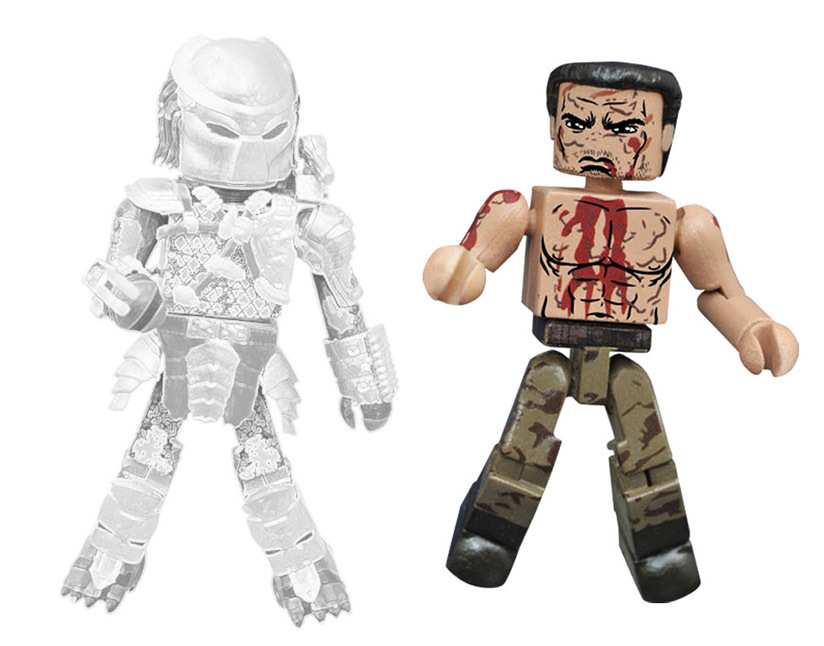 Final Battle Dutch vs. Cloaked Jungle Predator Minimates Variant Set