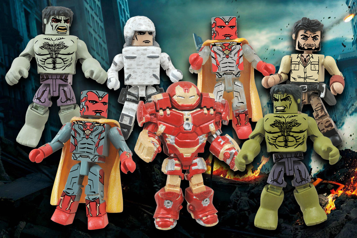 Marvel Minimates Series 63: Age of Ultron Full Set of 8