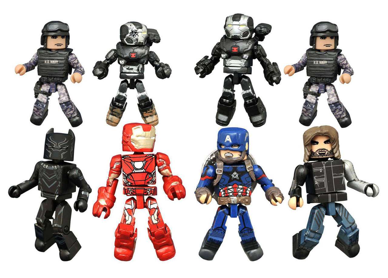 Marvel Minimates Series 66: Captain America Civil War Full Set of 8