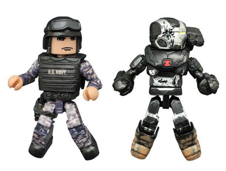 Battle Damaged War Machine & Guard Civil War Variant Minimates