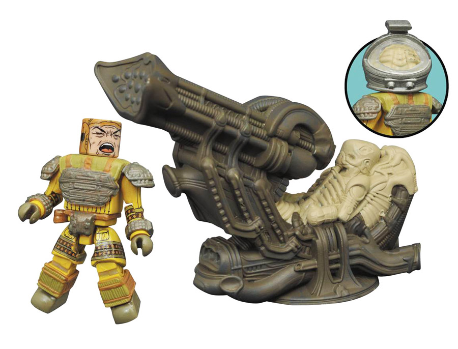 Space Jockey Deluxe Aliens Minimates Set