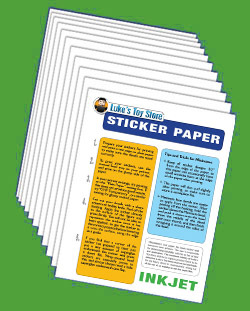 Sticker Paper (Inkjet) 10 Sheets White