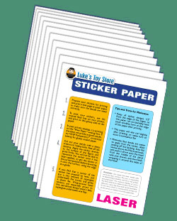 Vinyl Sticker Paper (Laser) 10 Sheets White