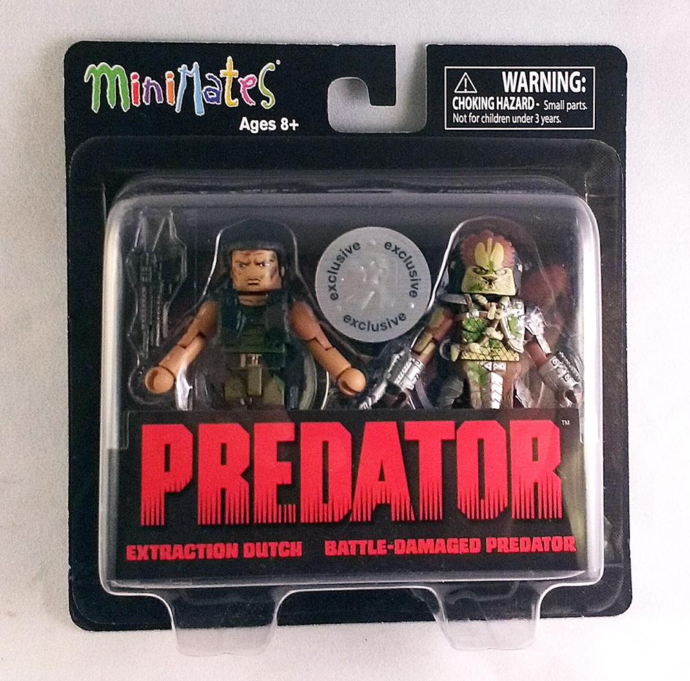 TRU Exclusive Extraction Dutch & Battle Damaged Predator Minimates