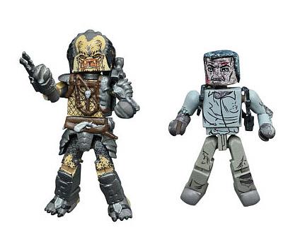 TRU Exclusive Elder Predator & Battle-Damaged Harrigan Minimates