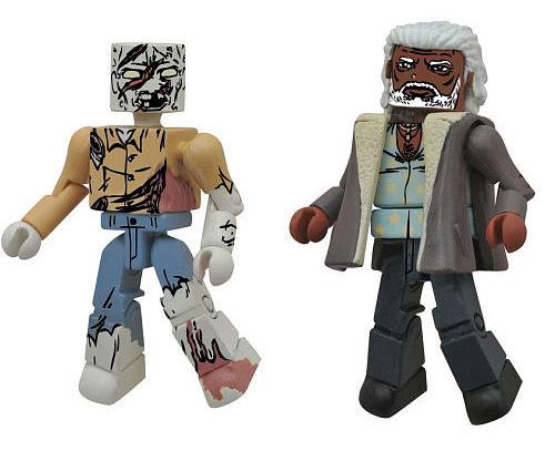 Ezekiel & Attack Zombie TRU Walking Dead Minimates
