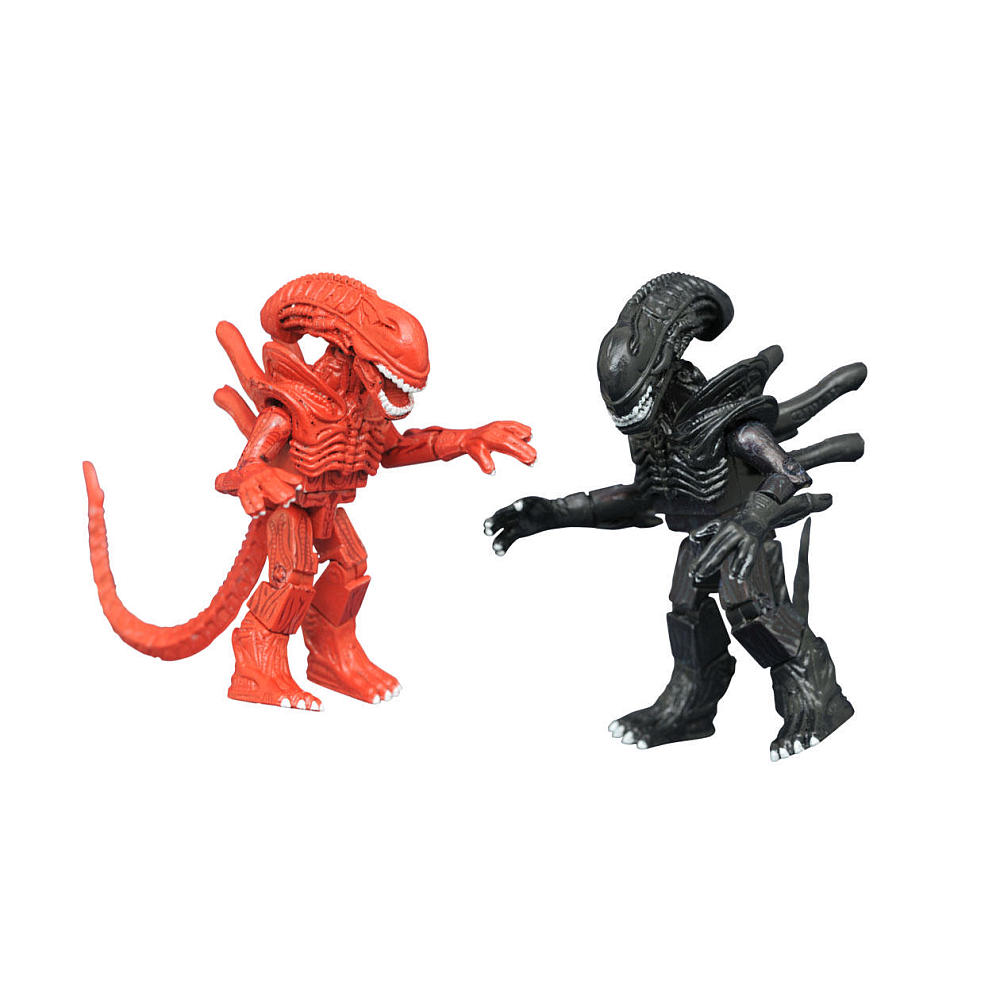 TRU Exclusive Hiveworld Alien & Hiveworld Red Alien Minimates