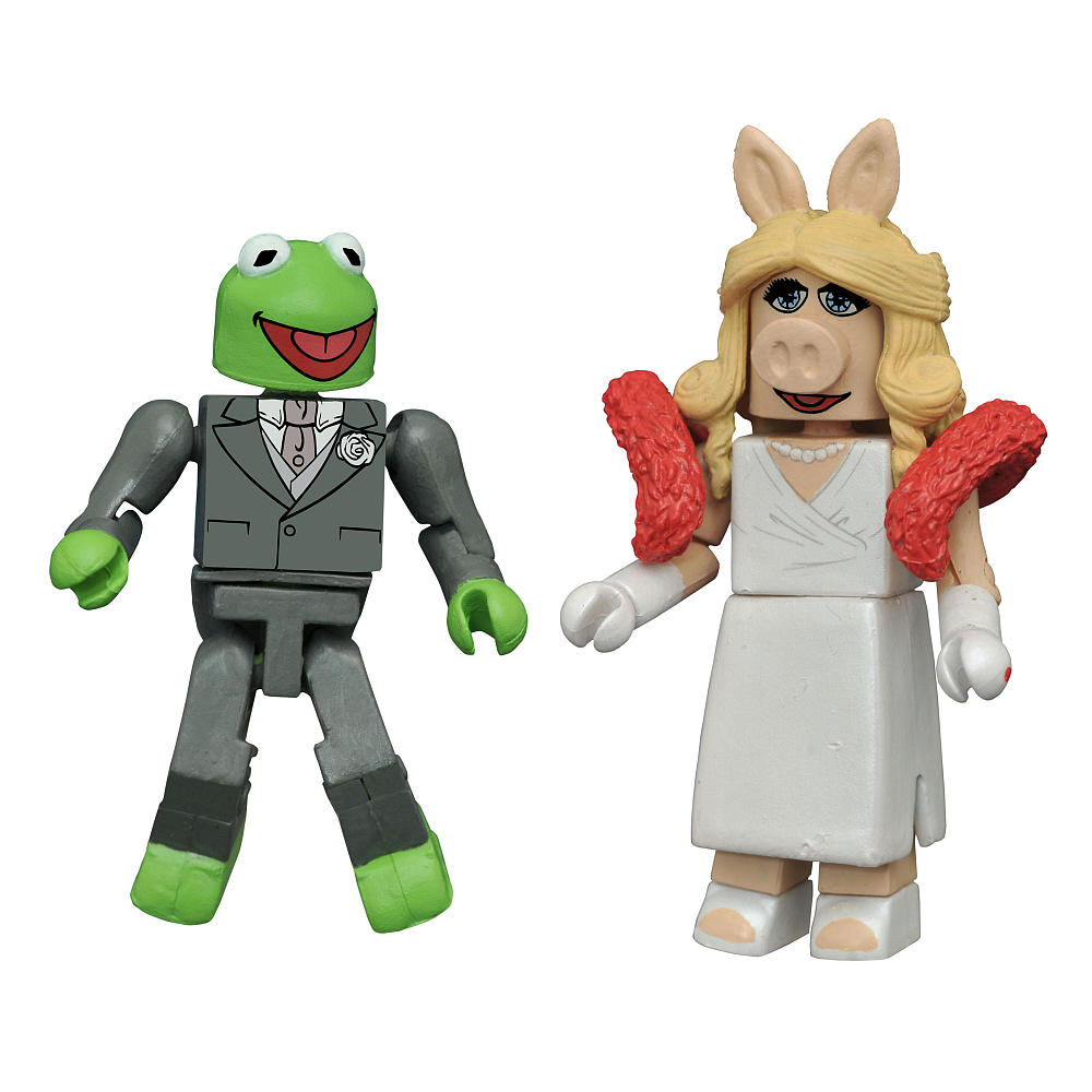SDCC Exclusive Formal Kermit & Ms. Piggy Muppets Minimates