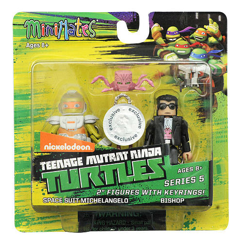 TRU Exclusive Space Suit Mikey & Bishop TMNT Minimates