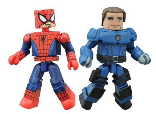 Half-Masked Spider-Man & Agent Coulson Walgreens Exclusive Marvel Minimates