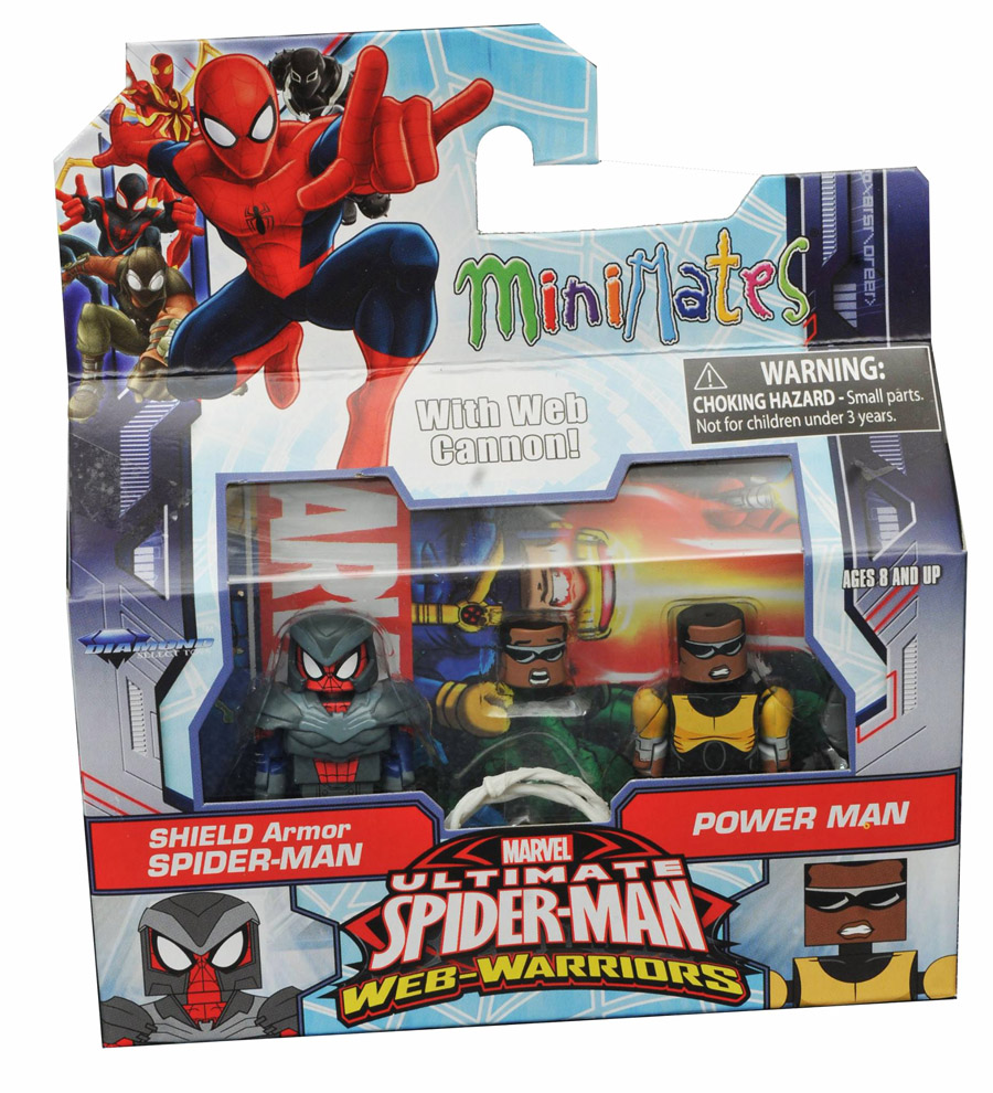 SHIELD Armor Spider-Man & Power Man Walgreen's Exclusive Minimates