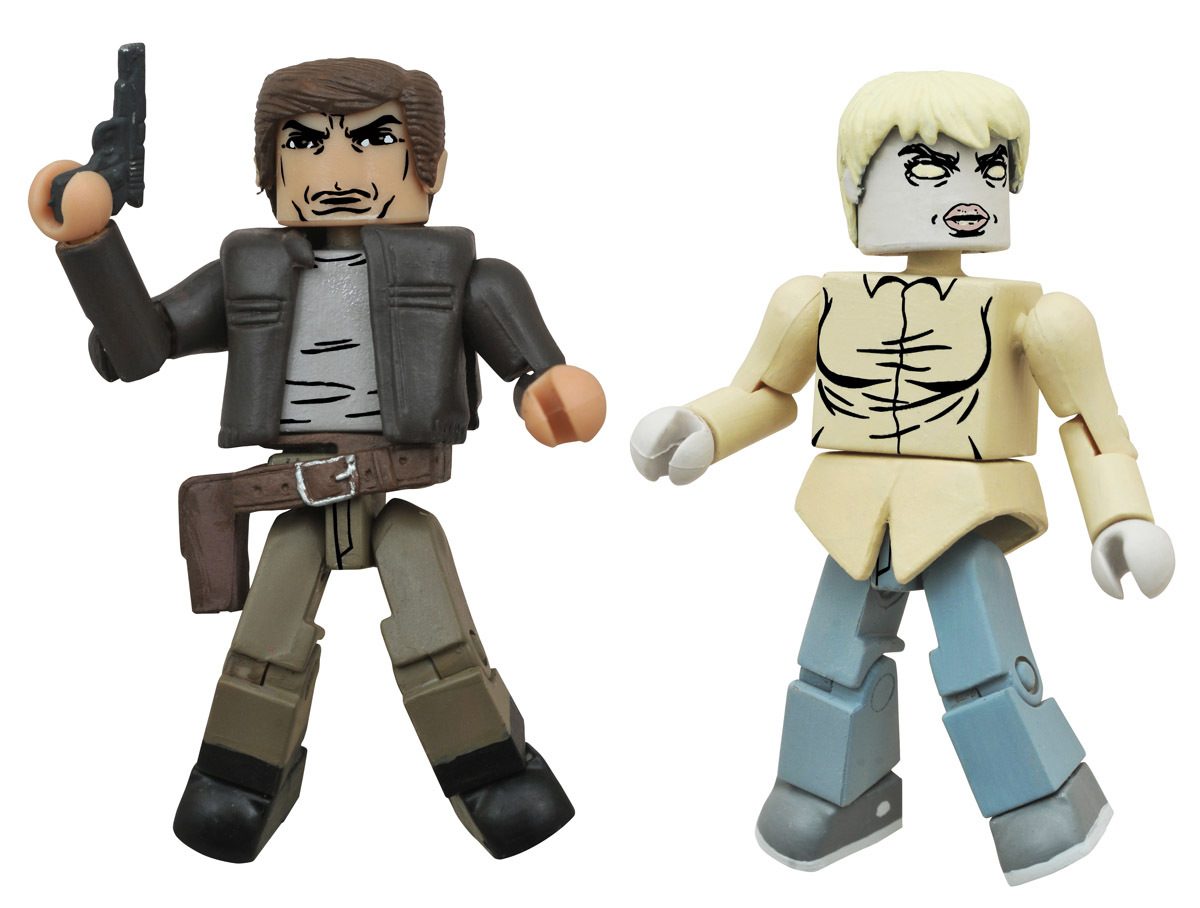 Chris & Zombie Holly Walking Dead Minimates