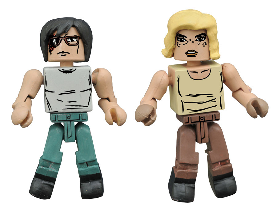New Beginning Carl & Sophia Walking Dead Minimates