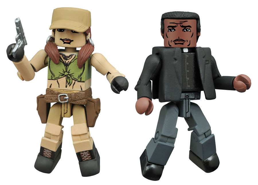 Rosita & Father Gabriel Walking Dead Minimates