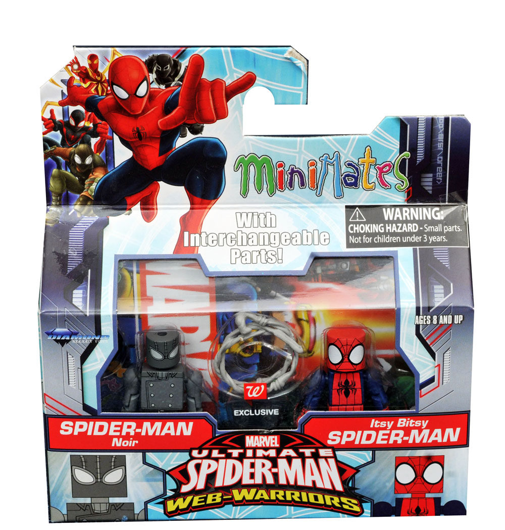 Spider-Man Noir & Itsy Bitsy Spider-Man Walgreens Minimates - LOOSE ONLY